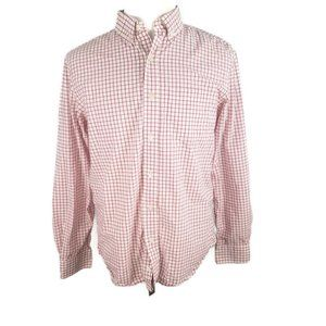 Old Navy Classic Dress Shirt Mens M Red White